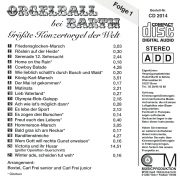Drehorgel-Shop: Orgelball bei Barth Folge 1 - Größte Konzertorgel der Welt (CD2014)