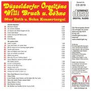 Drehorgel-Shop: Düsseldorfer Orgeltöne - Willi Bruch u. Söhne (CD2019)