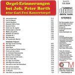 Drehorgel-Shop: Orgel-Erinnerungen bei Joh. Peter Barth (CD2034)