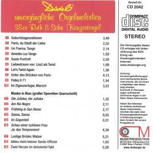 Drehorgel-Shop: Distel's unvergängliche Orgelmelodien (CD2042)