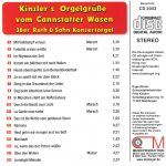Drehorgel-Shop: Kinzler's Orgelgrüße vom Cannstatter Vasen (CD2043)