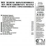 Drehorgel-Shop: Die Barth Konzertogel aus dem goldenen Mainz (CD2052)