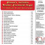 Drehorgel-Shop: Hinzen's beliebte Bremer Freimarkt Orgel (CD2054)