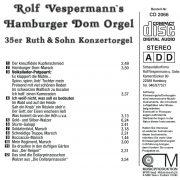 Drehorgel-Shop: Rolf Vespermann's Hamburger Dom Orgel (CD2066)