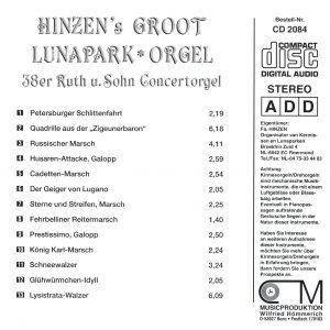 Drehorgel-Shop: Hinzen's Groot Lunapark-Orgel (CD2084)