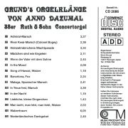 Drehorgel-Shop: Grund's Orgelkläne von Anno Dazumal (CD2086)