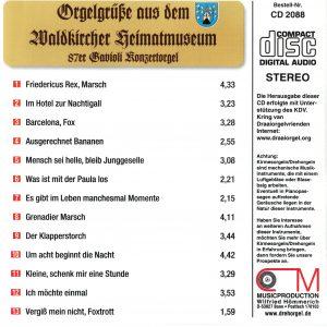 Drehorgel-Shop: Orgelgrüße aus dem Waldkircher Heimatsmuseum (CD2088)