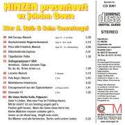 Drehorgel-Shop: Hinzen presenteert ex Johann Baese (CD2091)