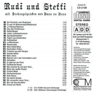 Drehorgel-Shop: Rudi und Steffi mit Drehorgelgrüssen von Haus zu Haus (CD2126)