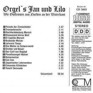 Drehorgel-Shop: Orgel's Jan und Lilo Folge 2 - Wir Ostfriesen aus Norden an der Waterkan (CD3002)
