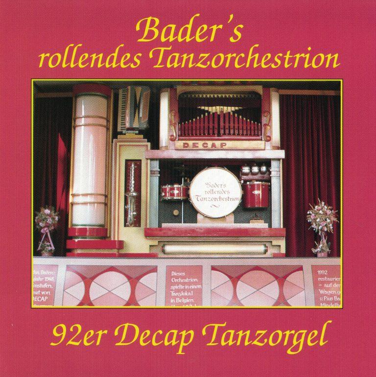 Drehorgel-Shop: Bader's rollendes Tanzorchestrion (CD3010)
