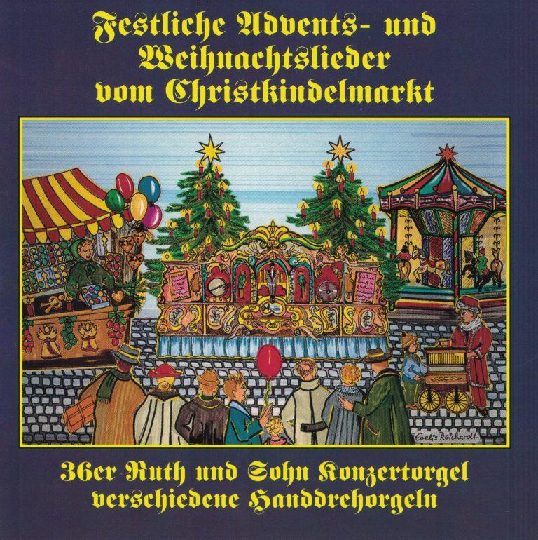 Drehorgel-Shop: Festliche Advents- und Weihnachtslieder vom Christkindelmarkt (CD3012)