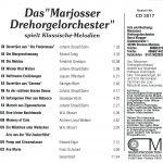 """Drehorgel-Shop: Das """"Marjosser Drehorgelorchester"""" spielt Klassische-Melodien (CD3017)"""