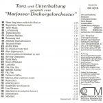 """Drehorgel-Shop: Tanz und Unterhaltung - gespielt vom """"Marjosser Drehorgelorches (CD3018)"""