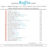 Drehorgel-Shop: 40 Jahre Orgelbau Raffin (CD3036)