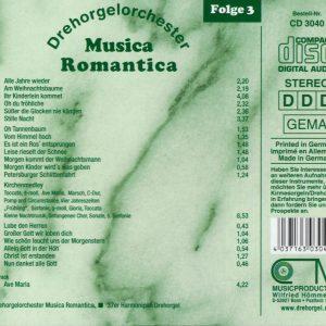Drehorgel-Shop: Musica Romantica - Folge 3 - Kirchen- und Weihnachtslieder (CD3040)