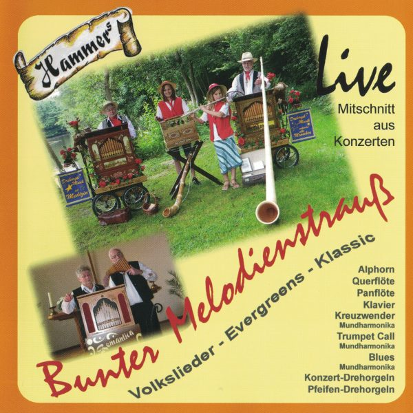 Drehorgel-Shop: Hammers - Bunter Melodienstrauß * Volkslieder - Evergreen - Klassiker (CD3047)